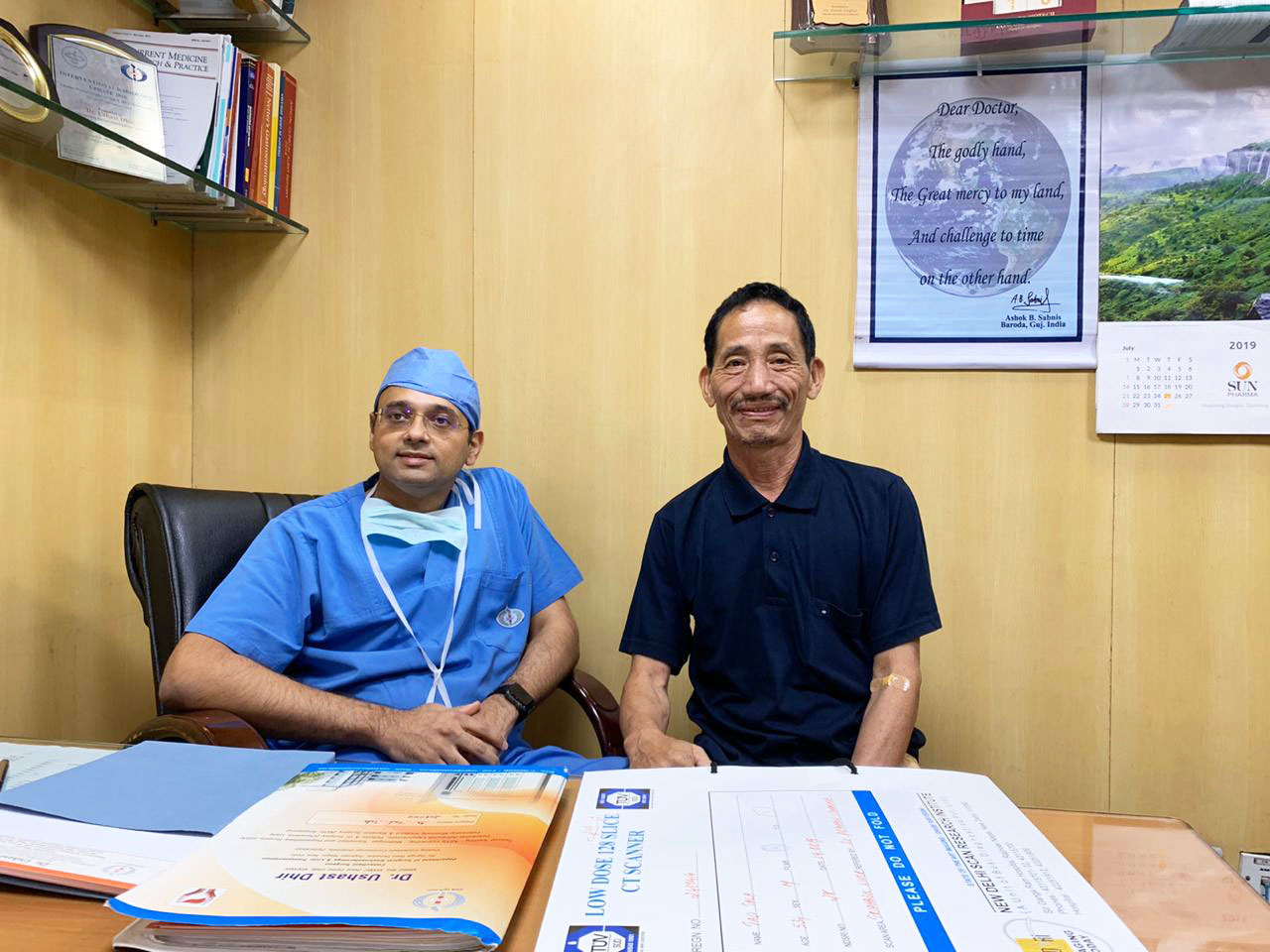 Liver Cancer patient from Arunachal after successful Surgery