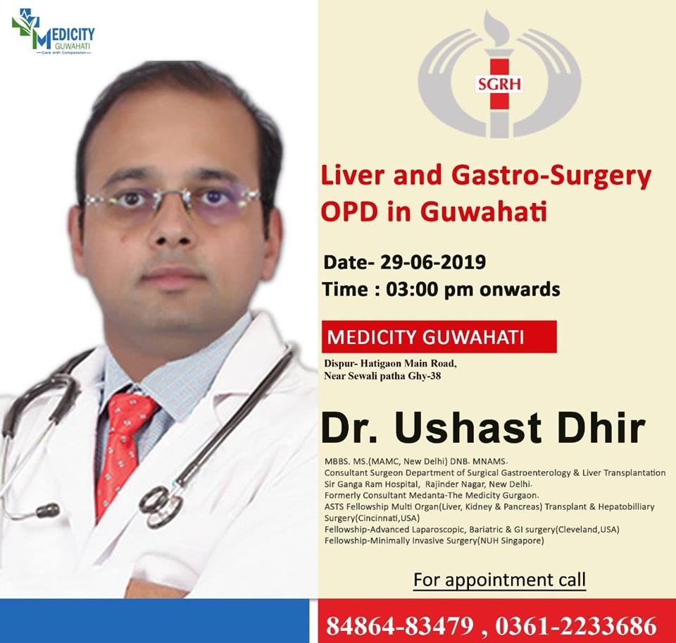 First Time Liver Camp In Guwahati, Liver OPD Agra, First Time Liver