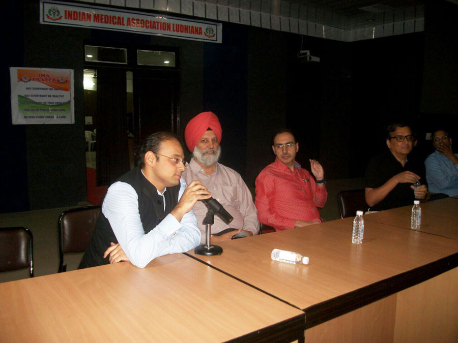The question answer session which was graced by Dr. Aulakh and  Dr. Malhi.