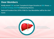 CME on Liver Transplant & Organ Donation at IMA House on 6-10-2017 (Friday), 8:30 PM
